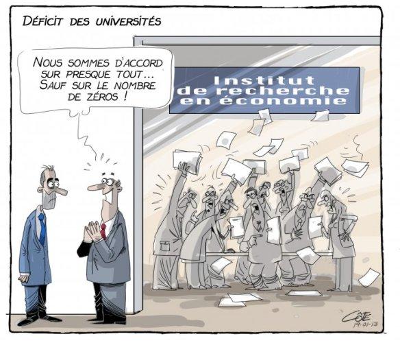déficit universités Côté