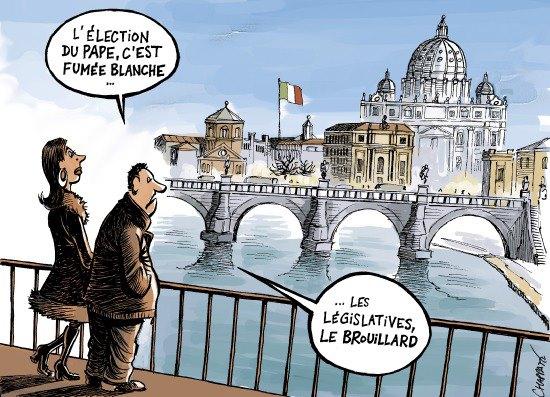 élections Italiennes - Chappatte