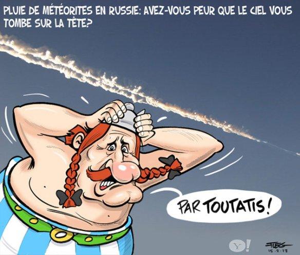 pluie de météorites Obélix