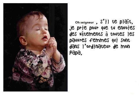 prière d'enfant