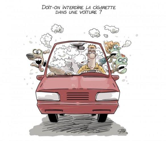 cigarette en voiture Côté