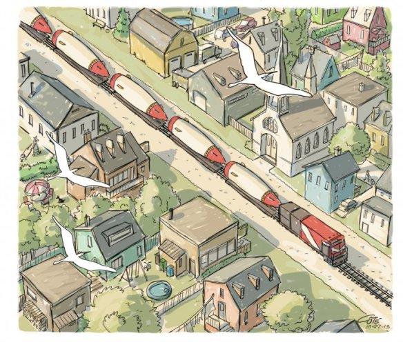 Train bombes - Côté