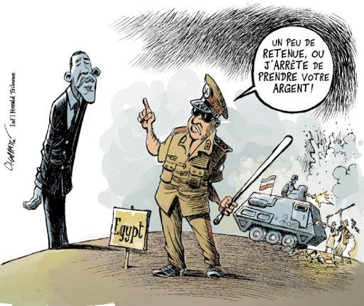 Egypte à Obama, retenue Chappatte