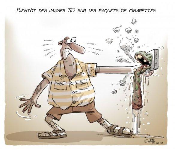images 3 D cigarettes Côté