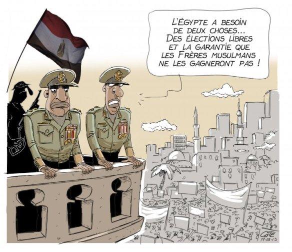 Seuls les caricaturistes ont le courage de protester contre cette horreur jour après jour.
