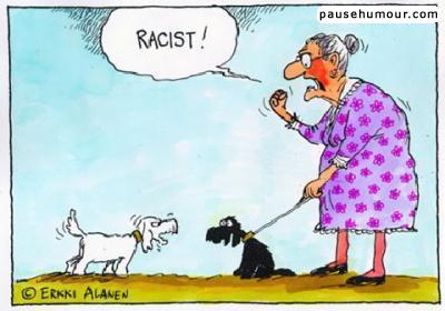 chiens racistes
