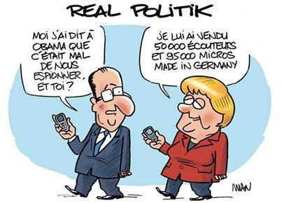 Hollande Merkel écoute