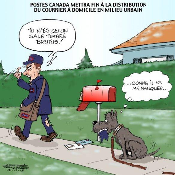 fin du courrier à domicile H. Phi;ippe
