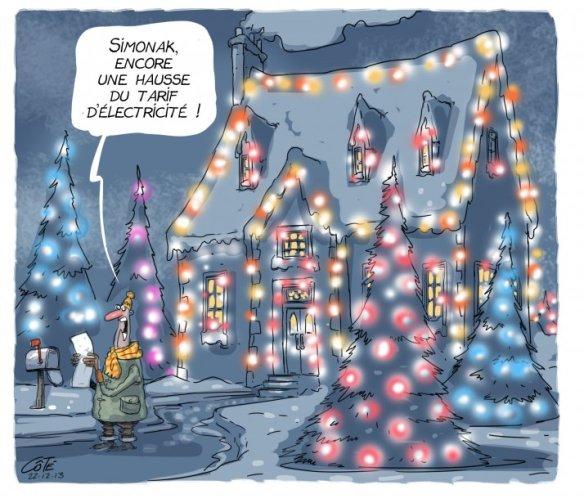 hausse de l'électricité Côté