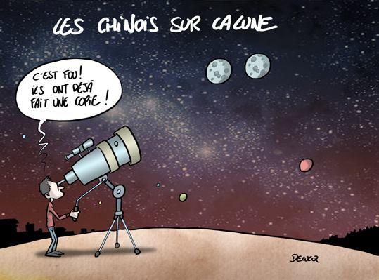 Les Chinois sur la lune