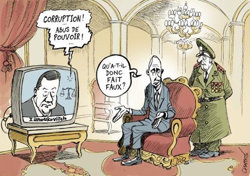 Poutine et l'ex président d'Uraine