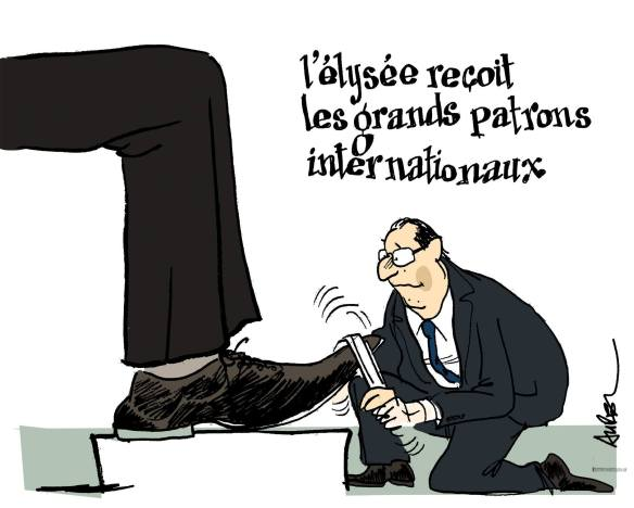 Rencontre Hollande grands patrons