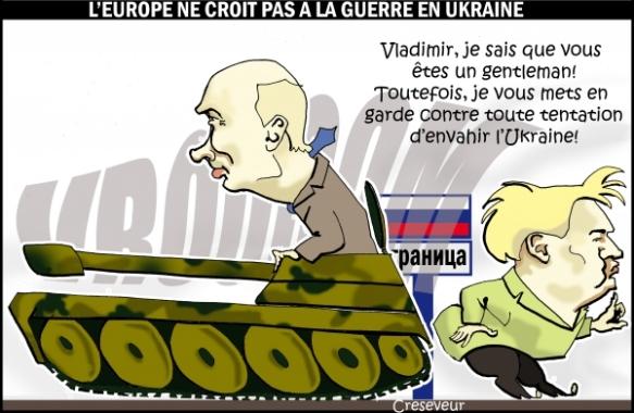 L'europe ne croit pas à une guerre en Ukraine