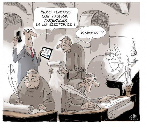 moderniser la loi électorale Côté