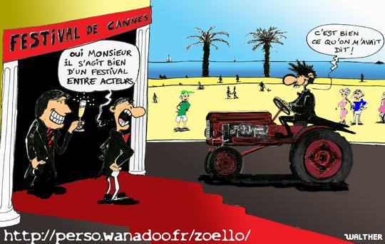 Cannes en tracteur