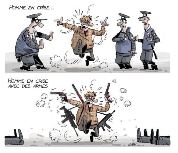 homme en crise Côté