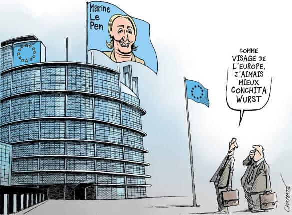 visage de la France Europe Chappatte
