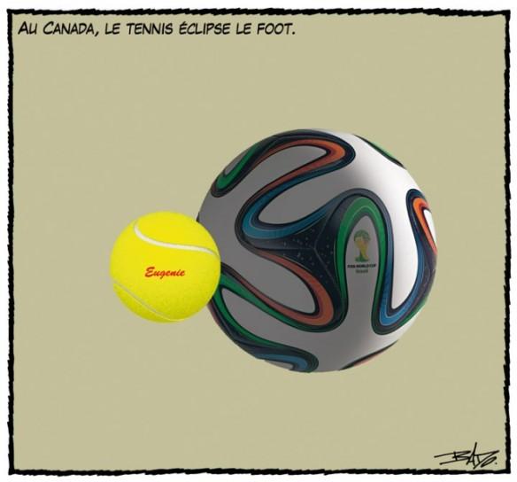 Au Canada le tennis + que foot