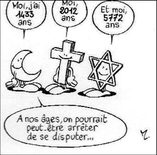 À nos âges les 3 religions