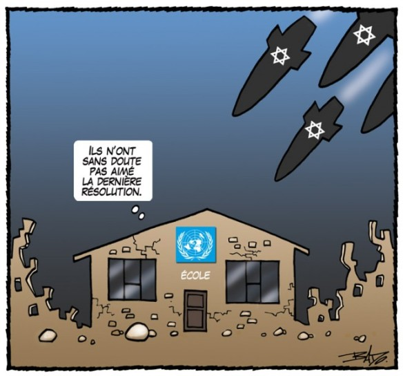 Israël bombarde école