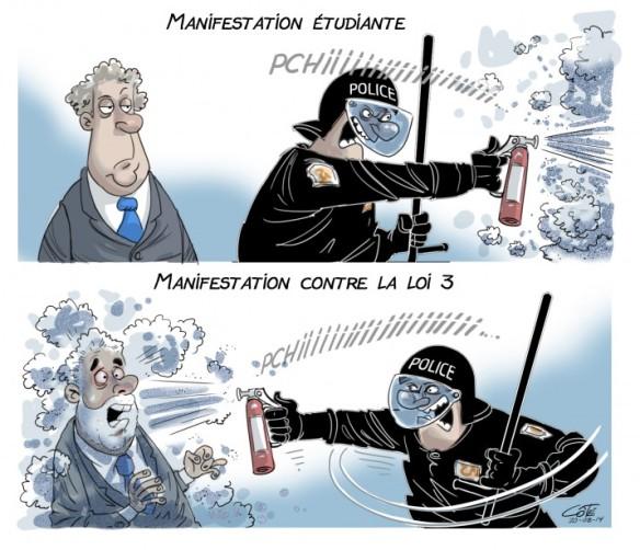 retraites Charest Couillard Côté