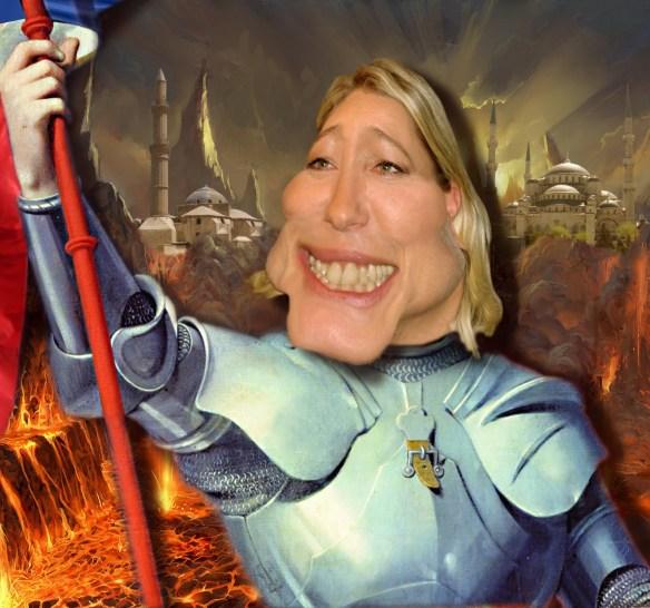 Marine Le Pen en Jeanne d'Arc des temps modernes