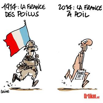 humour 2014 société dessin humoristique drôle 1914 poilus guerre aujourd'hui actualité