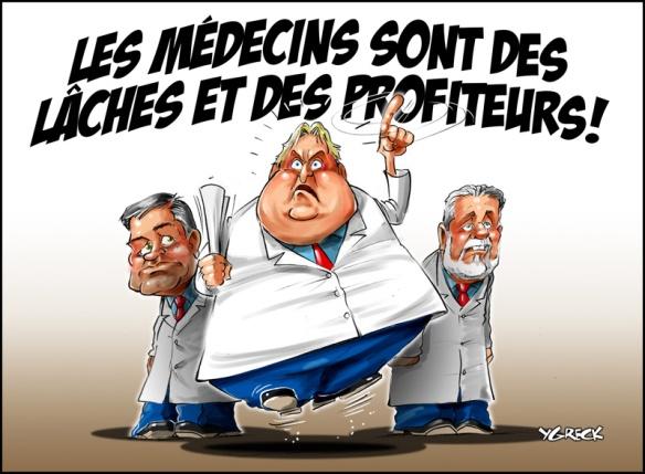 médecins lâches et profiteurs