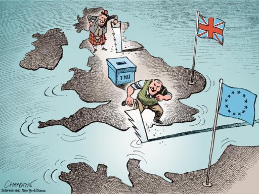 Les sondages et les caricaturistes prédisaient la victoire des Travaillistes