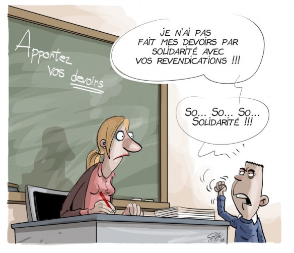 grève prof