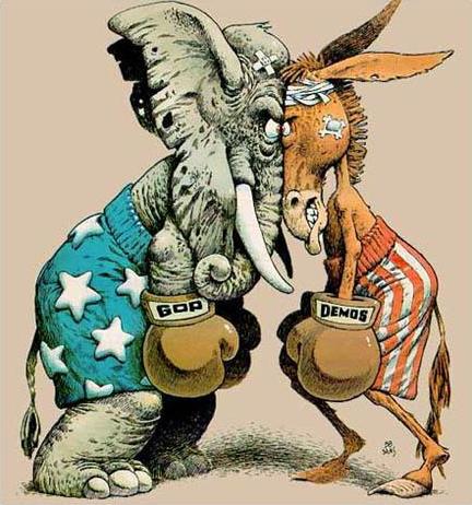 Républicains vs. Démocrates